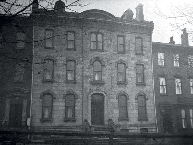 Holmes Hall in 1886/photo by William A. Caldwell Jr. Originally founded as a home for working Protestant boys. It was renamed Holmes Hall for Boys in 1915. After its closing, the organization continues to support similar organizations.