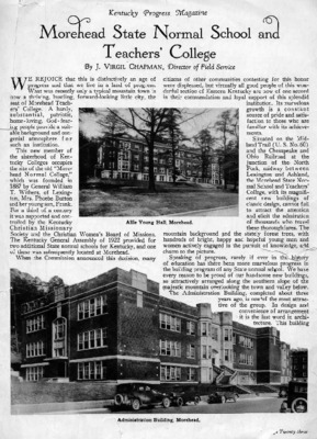 An old newspaper article about the school, written in the late 1890s.