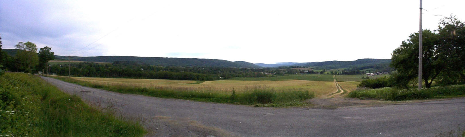 Panorama of where the settlement once stood