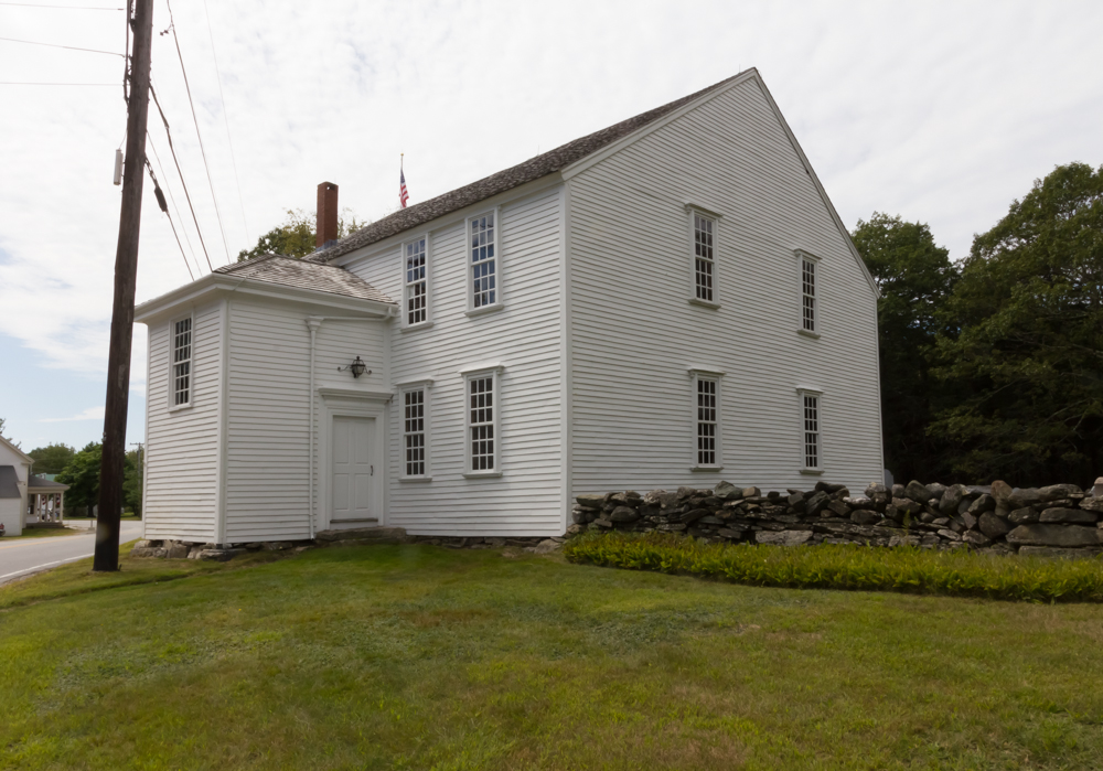 The Harpswell Meeting House was originally a Congregational church and has sat along State Route 123 since 1759.