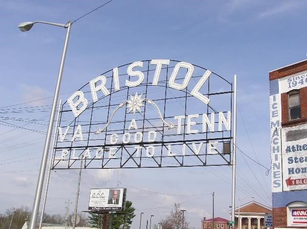 Bristol sign before recent modernizations, renovations