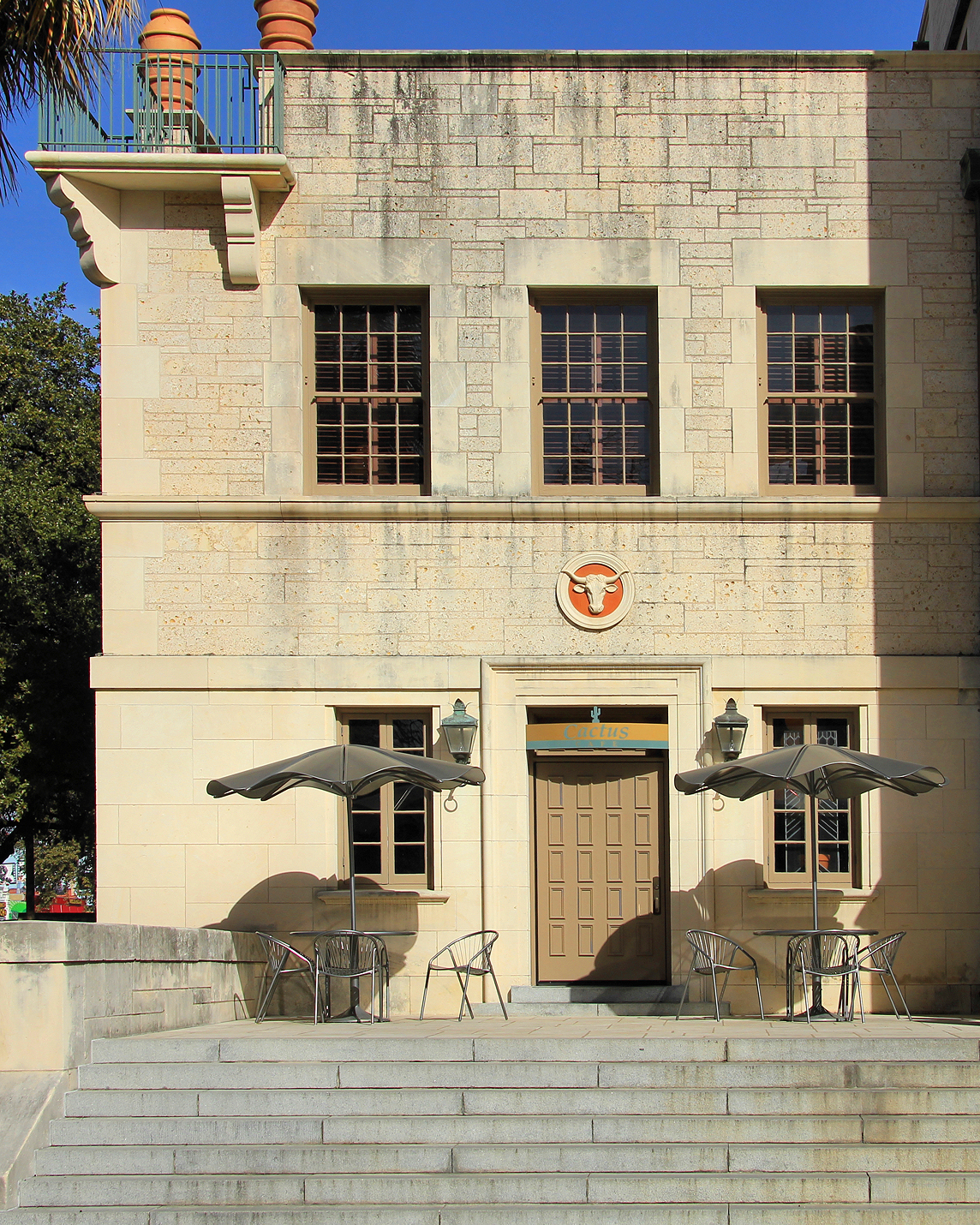 The exterior of the Cactus Cafe, located in the corner of the University of Texas's Union Building