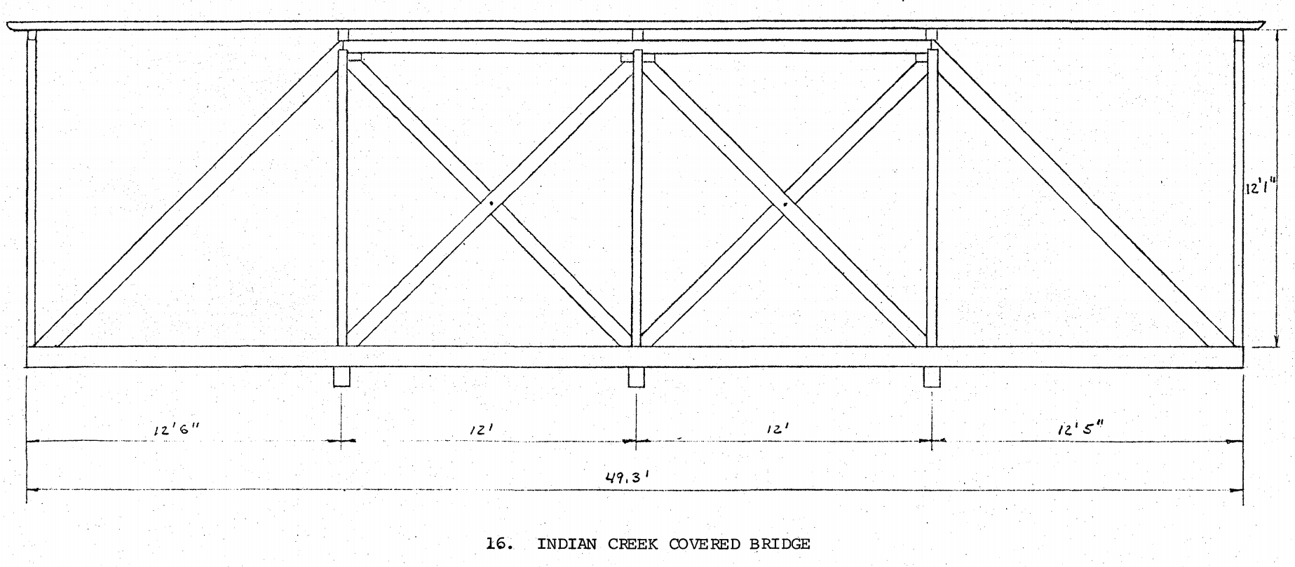 Architectural sketch of the Long trusses used for the bridge