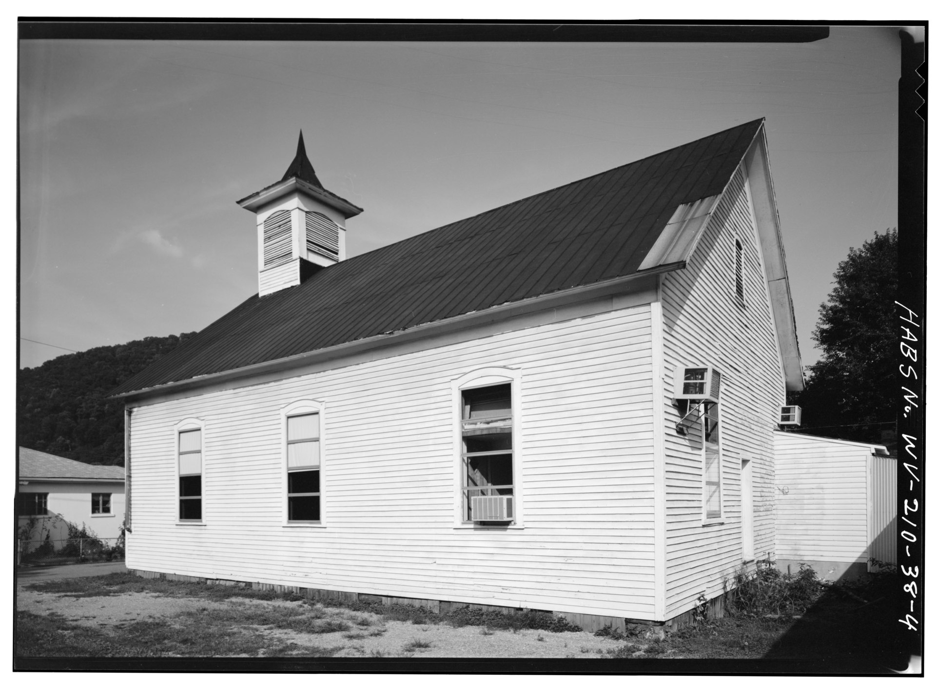 Side view of the church in 1980
