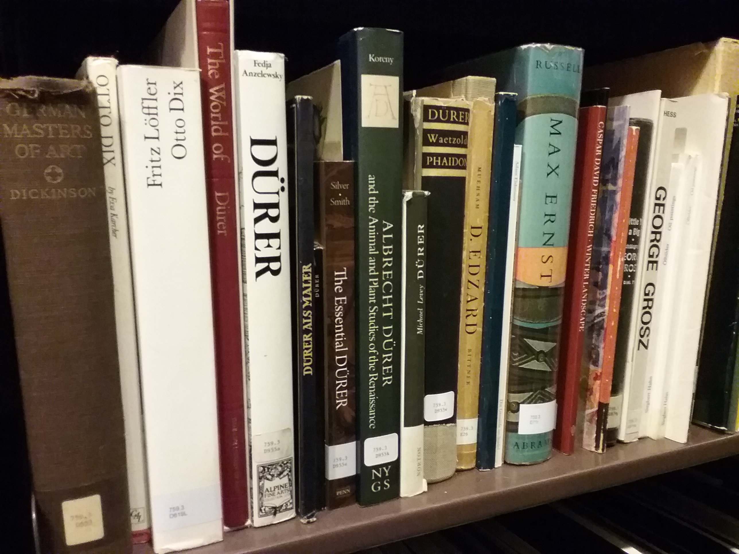 Some of the 20,000+ books in the library collection