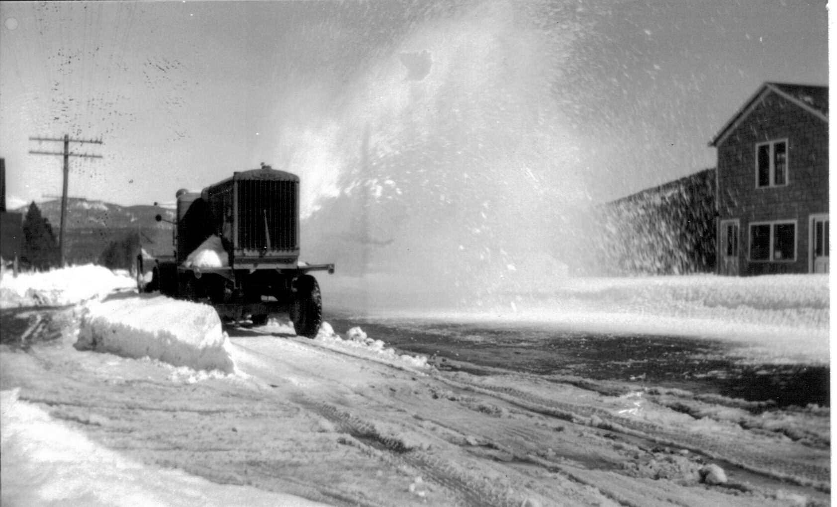 While Colorado might average 300 days of sunshine, the snowfall average in Summit County ranges from 160 to over 300 inches depending on the season. In this image, a snowplow works to clear Frisco streets after a snowstorm.