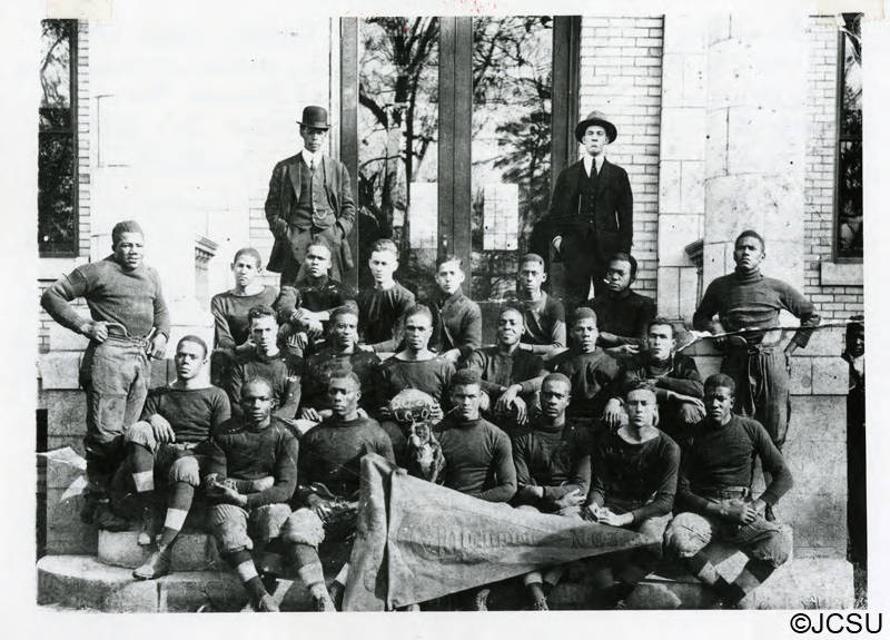 Above is the football team in from of carnagie hall in 1917