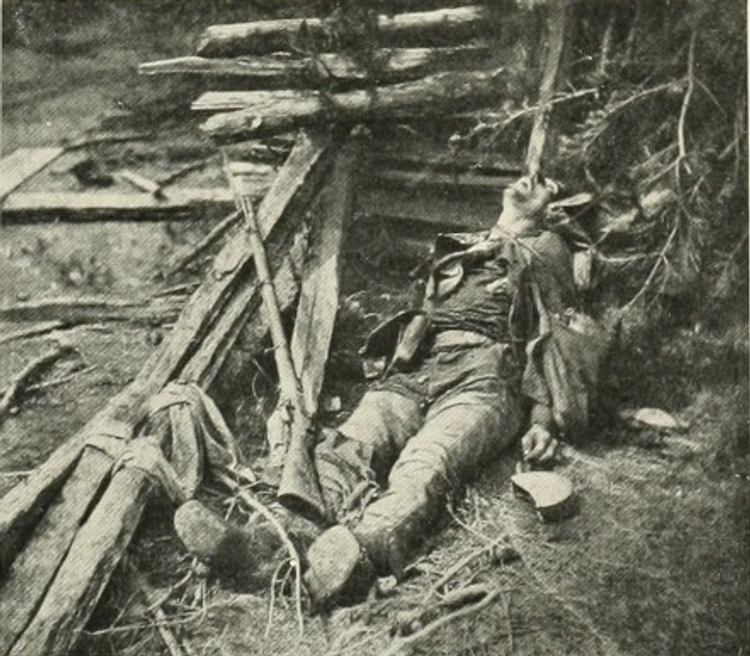 Dead from Confederate General Ewell's men