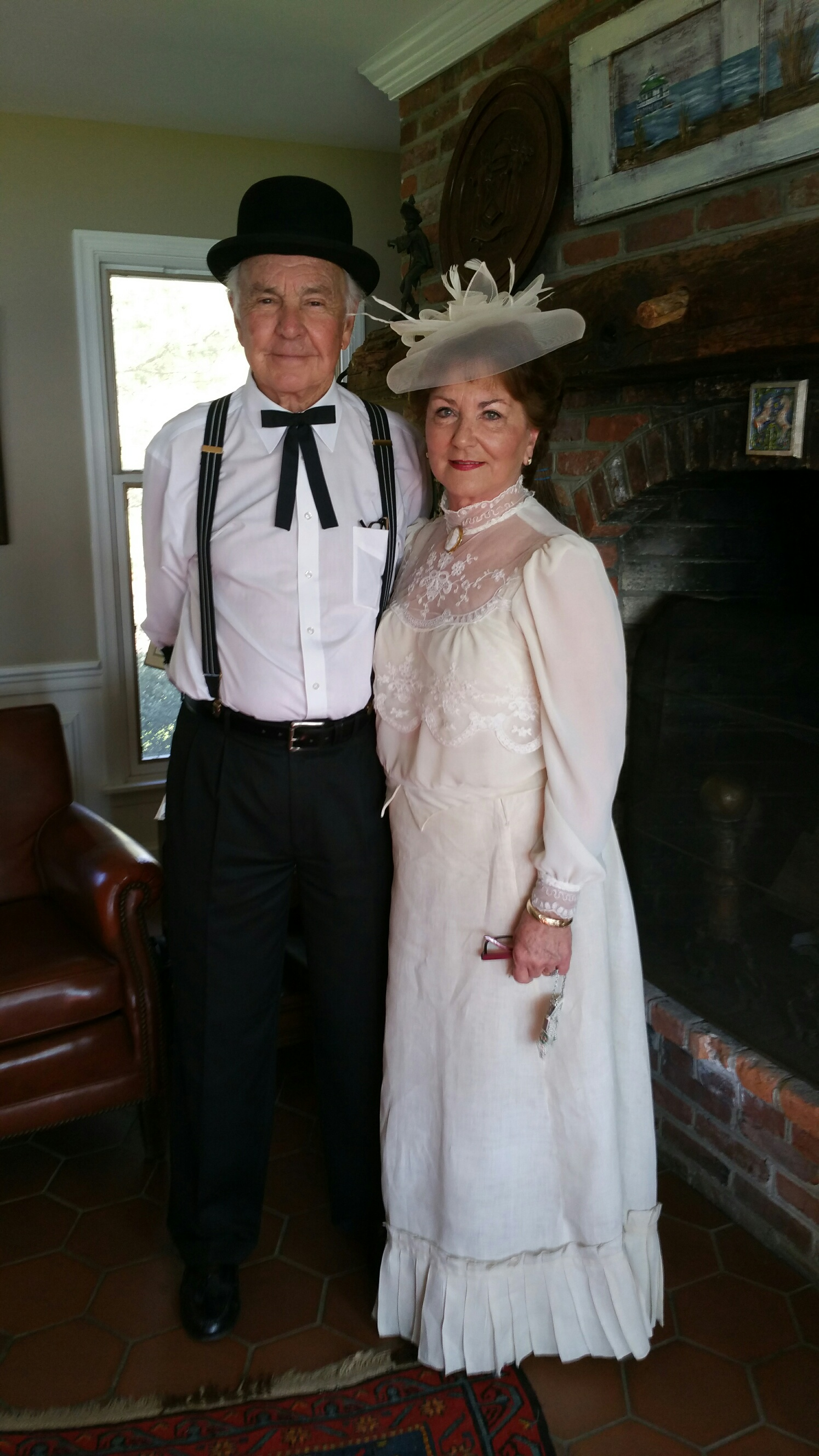 Linda Collier, curator, with husband Butch.