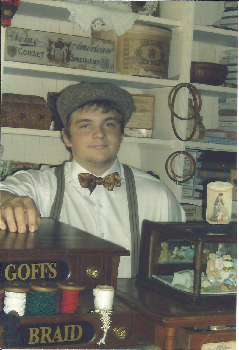 Young docent at the James Kirwan General Store.