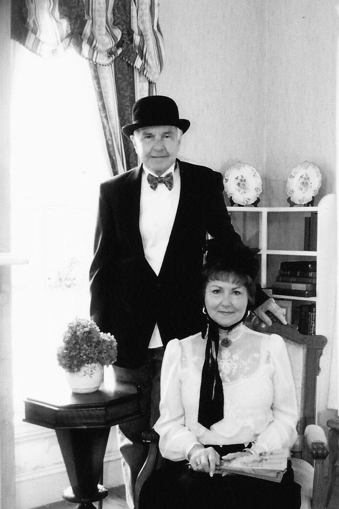 Curator Linda Collier and husband Butch.