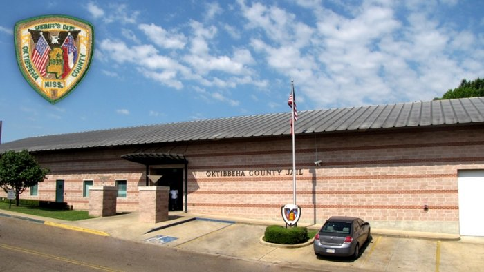 The exterior of the jail, known as both the Oktibbeha County Jail and the Starkville City Jail
