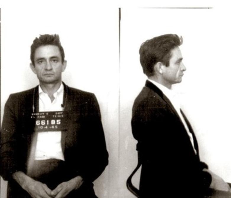 Johnny Cash's mugshot from the Starkville City Jail