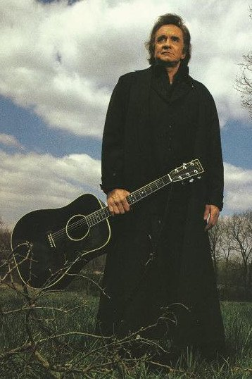 "Johnny Cash, known as the ""Man In Black"""