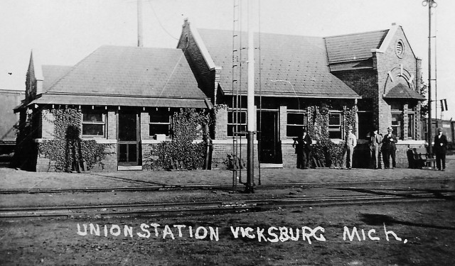 Historic Photo of the Union Depot in Vicksburg - Now the Depot Museum
