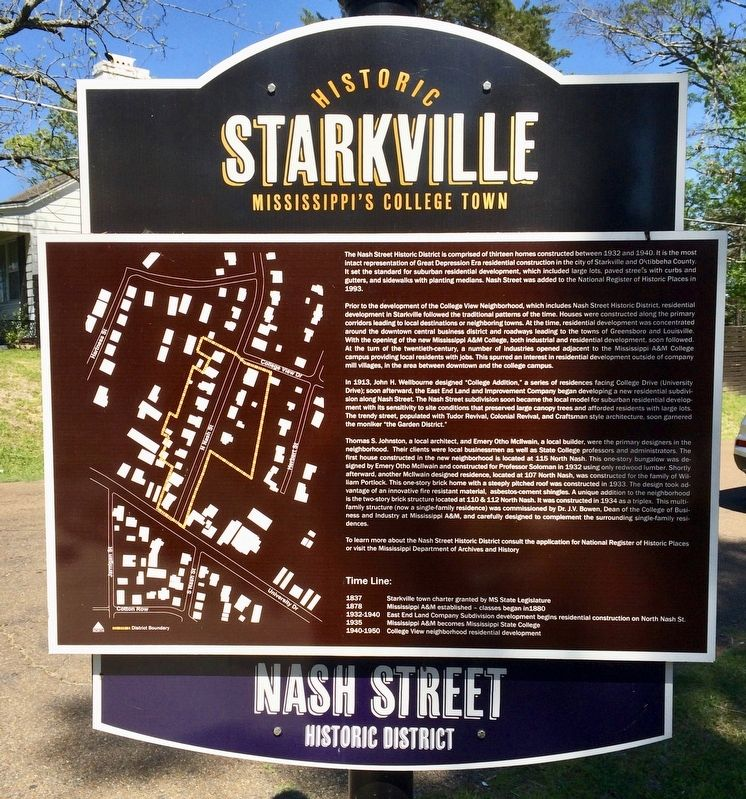 Another marker showing the bounds of the historic district