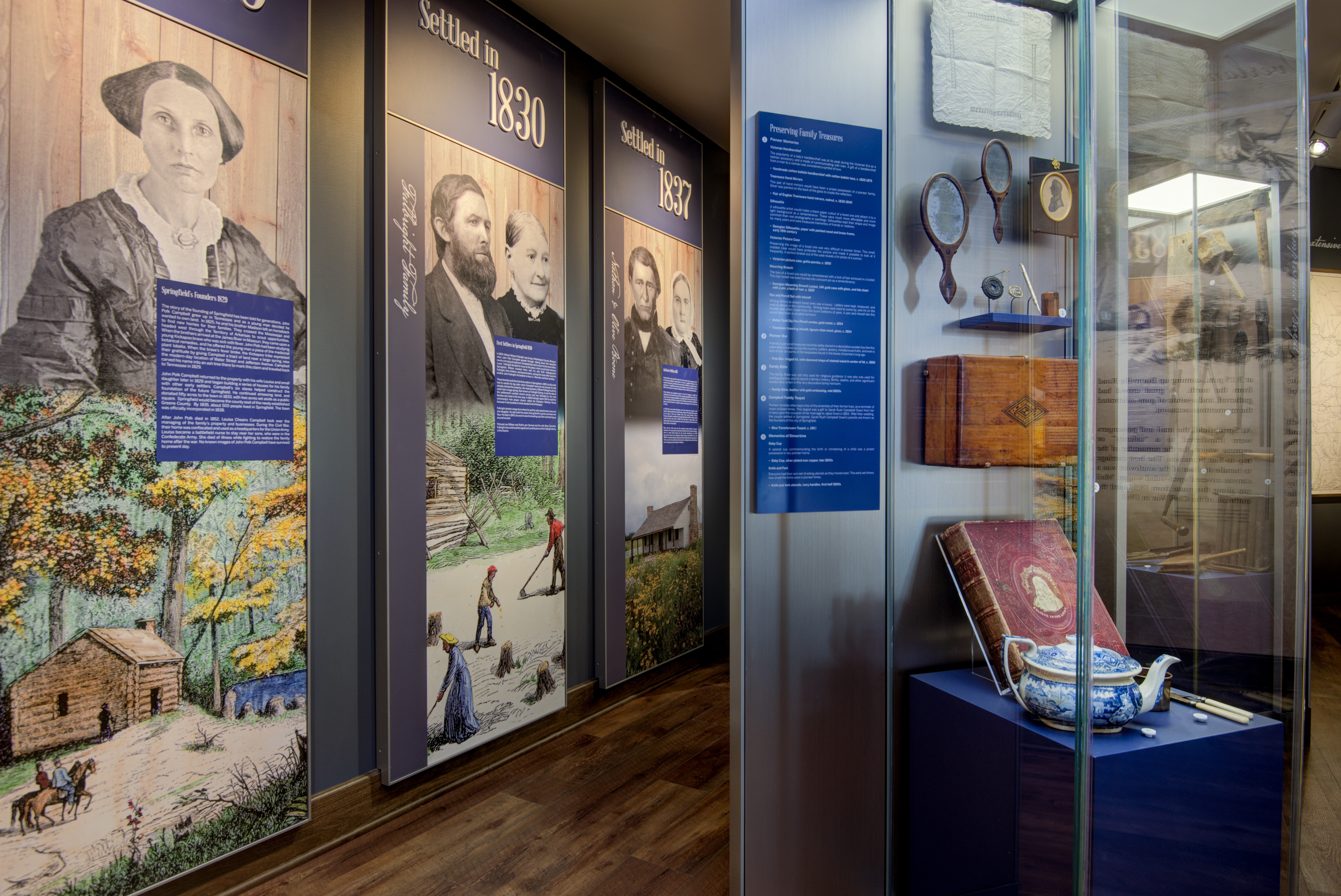 Learn about early settlers in Springfield and explore what their lives were like
