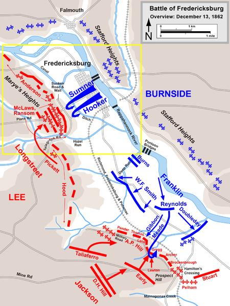 Map of the battle and infantry movements
