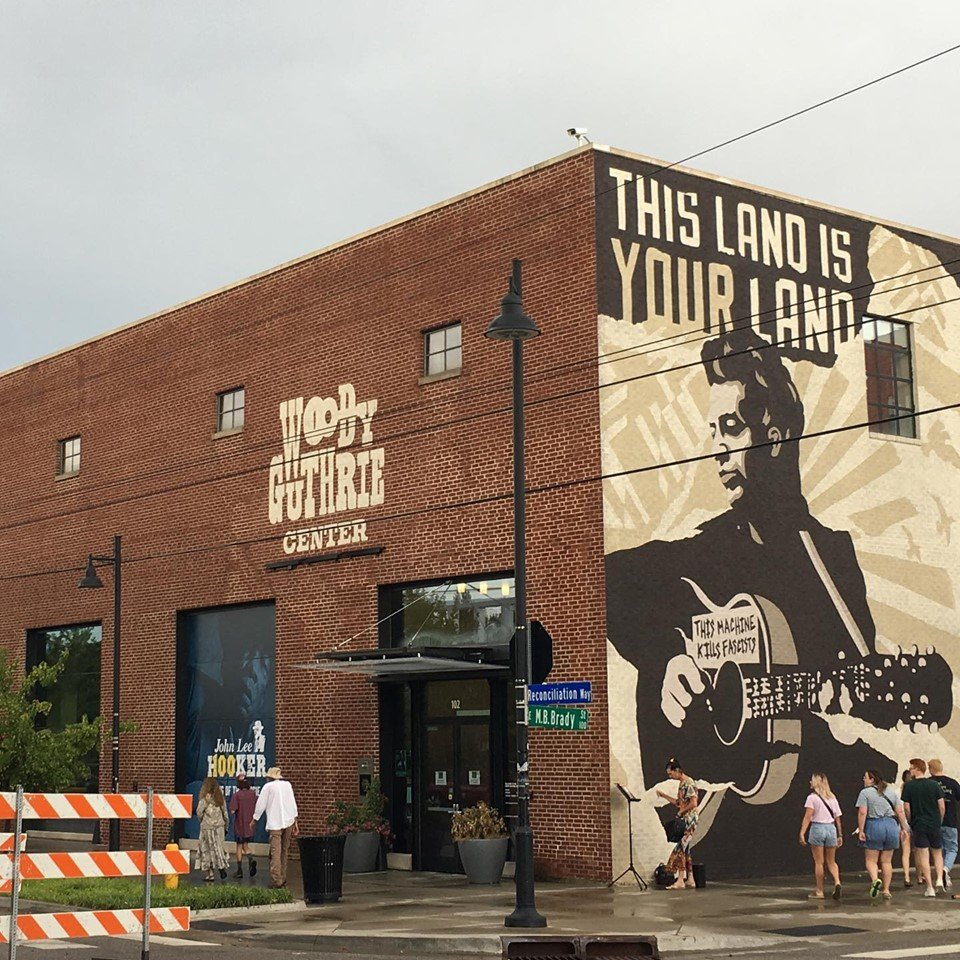 The Woody Guthrie Center honors the legacy of its namesake, Woody Guthrie (1912-1967), who was one of America's most influential singer-songwriters.