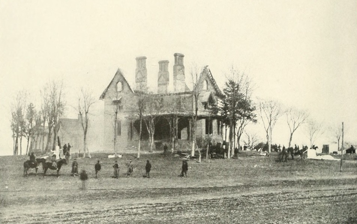 The Phillips House, used by Union General Ambrose Burnside. Taken during the battle