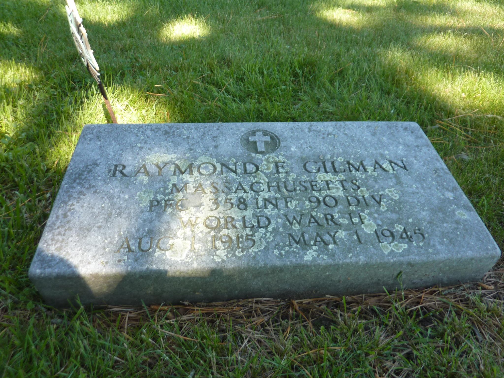 Raymond E Gilman Grave