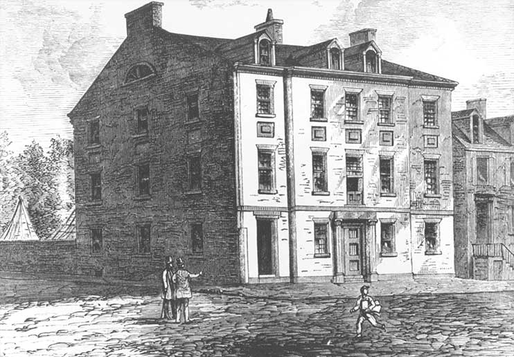 The Carroll Mansion as it would have appeared in the early 1800s.
