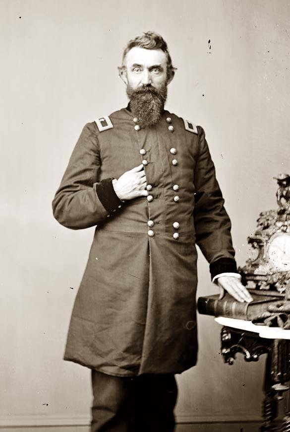 Union Col. Nathan Kimball, who led the attack on the Rebel right. Later in the war he served with distinction at Antietam and Fredericksburg, then served in the Western Theater and became a personal friend of William T. Sherman.