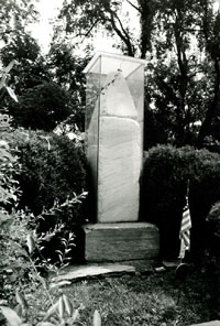 The original 1817 monument is pictured here. The monument is one of two, the other built in 1877.