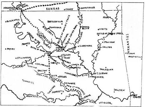 Battle of Round Mountain Map