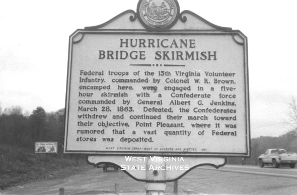 The historical marker can be found tucked away behind the sign welcoming people to Hurricane.