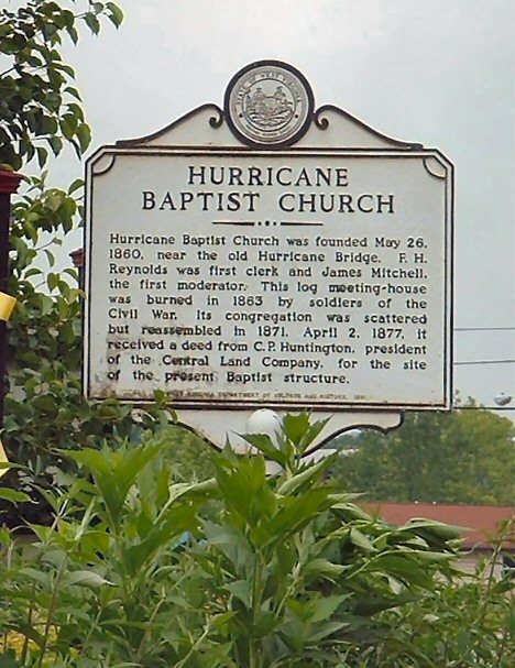 Hurricane Baptist Church Marker