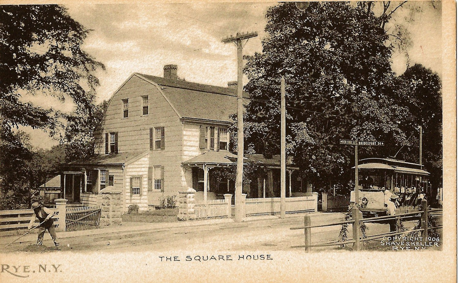 Old Photograph of Tavern (1906)