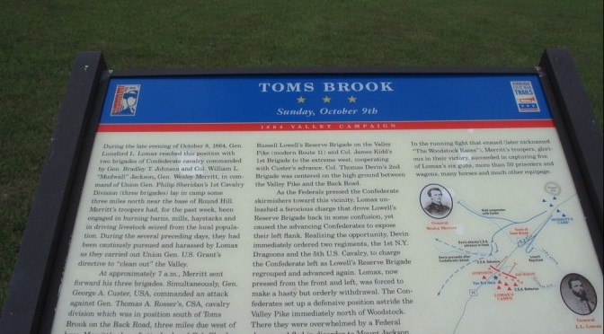 Toms Brook Battle Marker Located at Shenandoah County Park, Maurertown, Va.