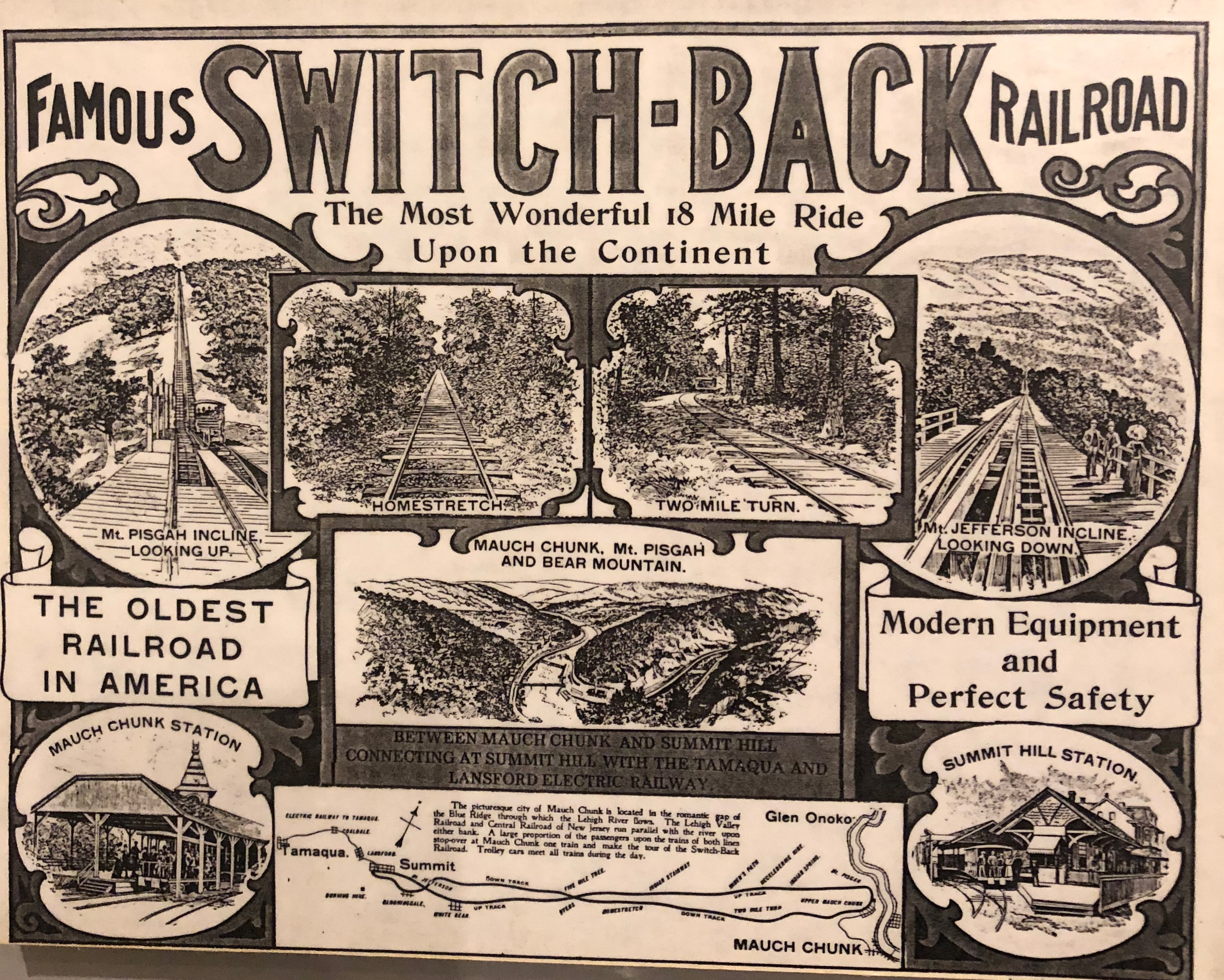 Advertisement for the SwitchBack Railroad