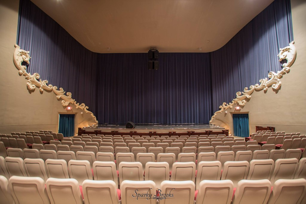 View from the over 1000 seats in the theater