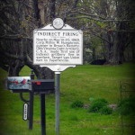 """Indirect Firing"" marker in Fayetteville, WV."