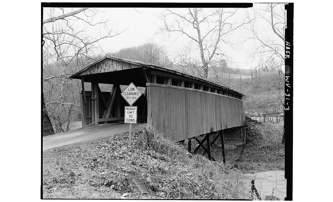 Staats Mill Covered Bridge at the original location