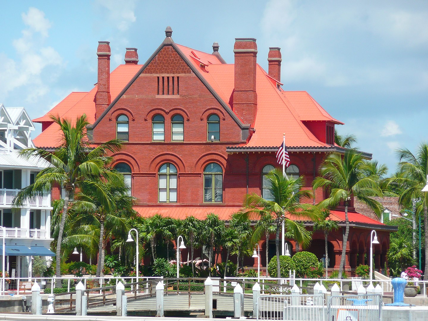 Back view of the Old Post Office and Customshouse (Key West Museum of Art & History)