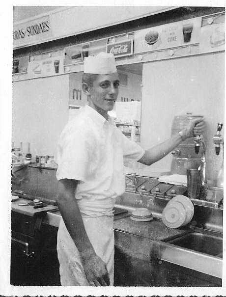 Arrow Pharmacy Soda Jerk Patrick Schumacher, c. 1962