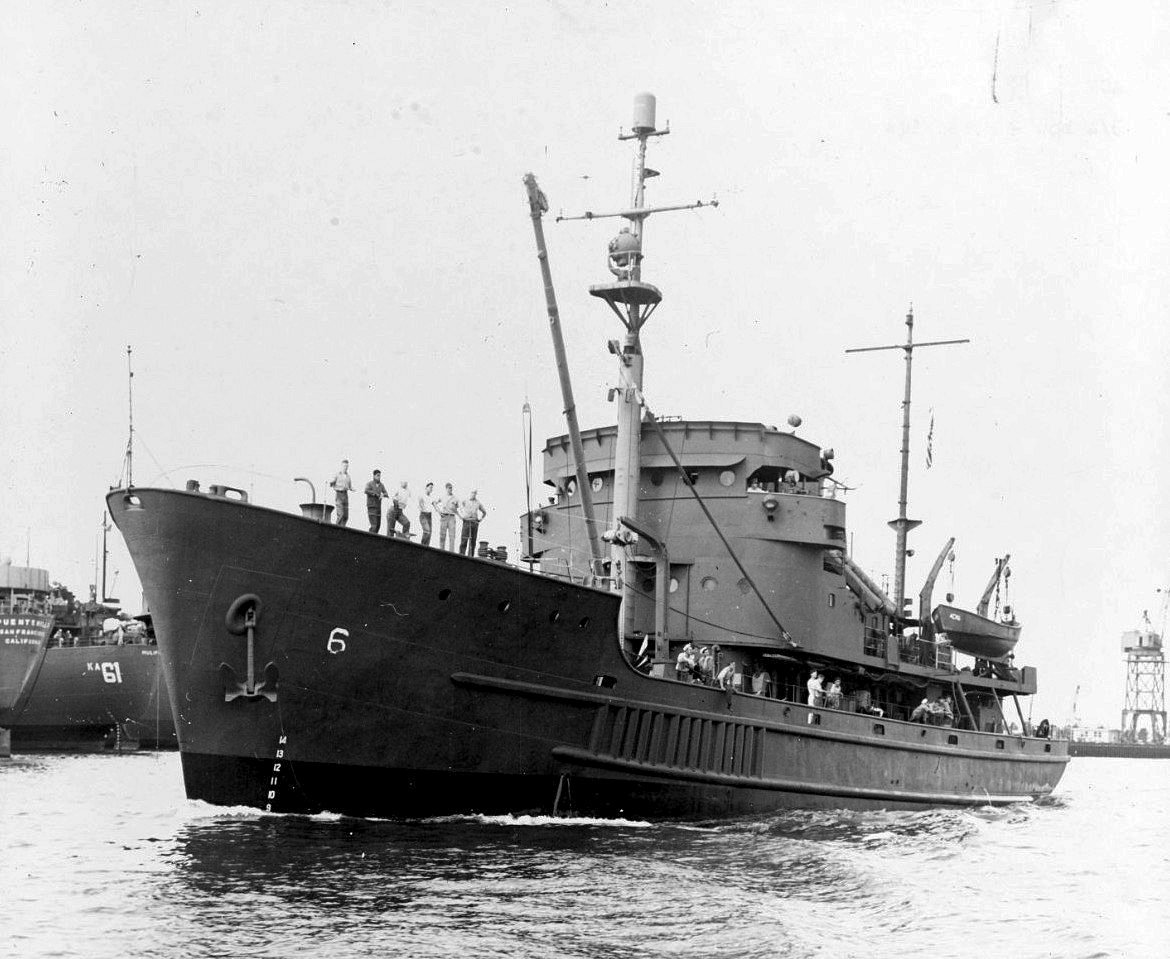 Originally built for the Army, this Marietta-built vessel became USS Bastion under Navy care. She was later transferred to the Coast Guard as USCGC Jonquil (NavSource).