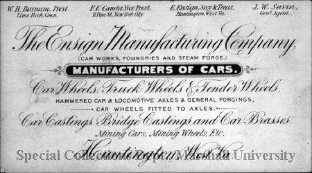 Advertising card, circa 1890