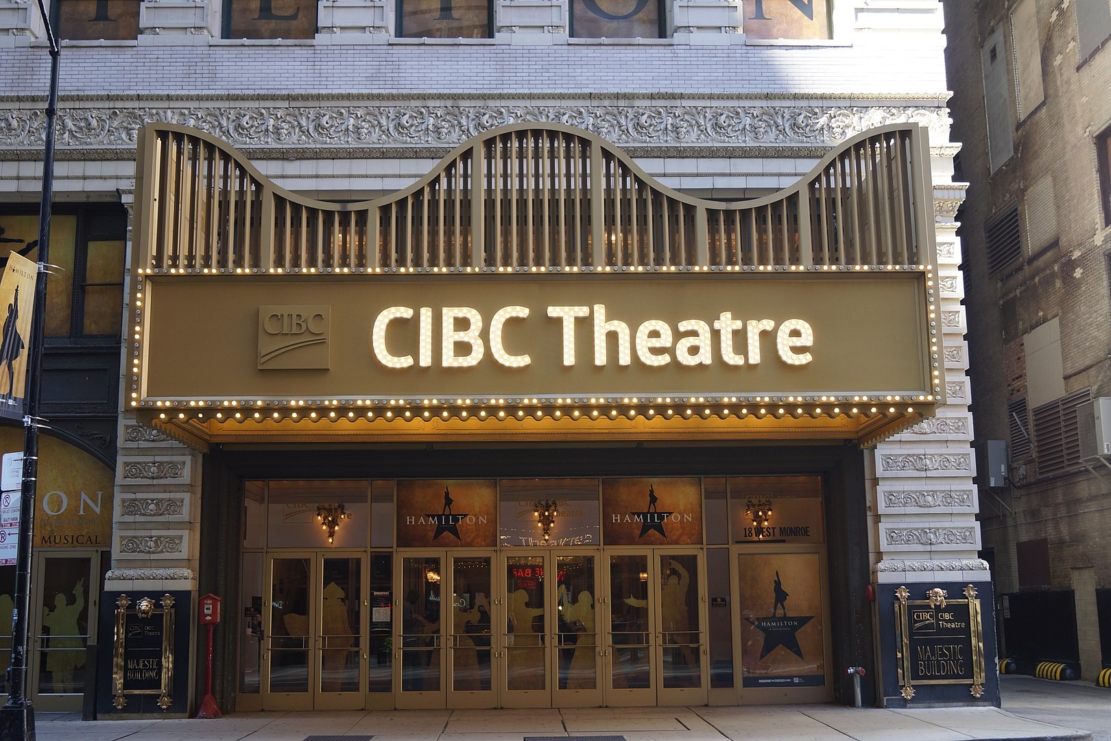 2020 Photo of the main entrance of the CIBC Theater (historic Majestic Theater)