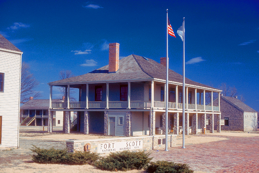 Fort Scott is maintained by the National Park Service and is located in downtown Fort Scott, Kansas.