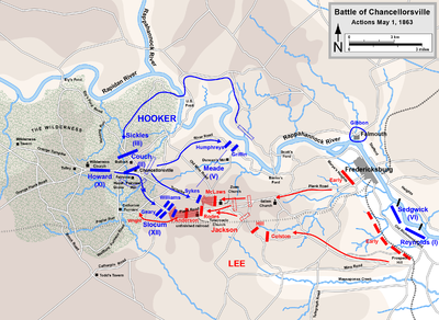Map depicting movements taken during the battle