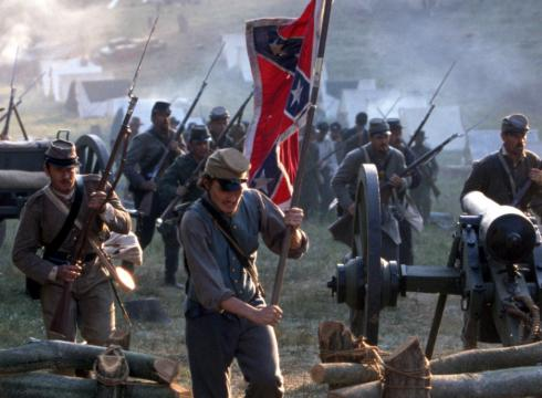 Another scene from Gods and Generals. Confederates storm through the camp of the Union 11th Corps