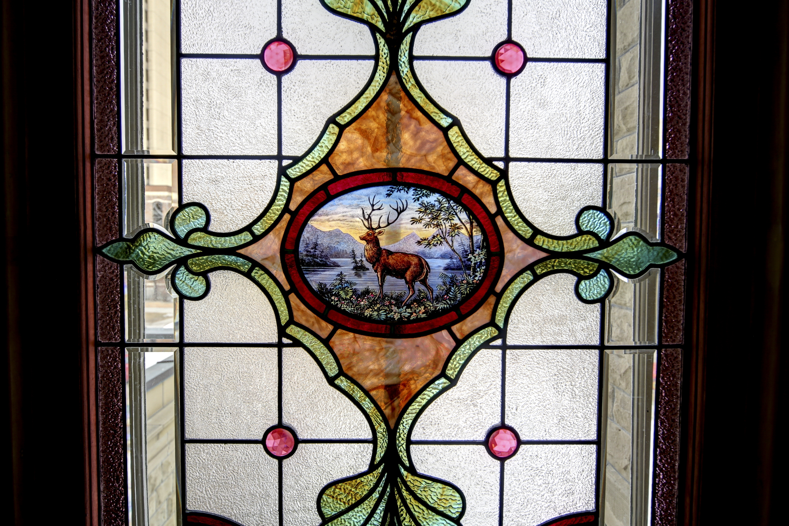 Stained Glass at Lougheed House