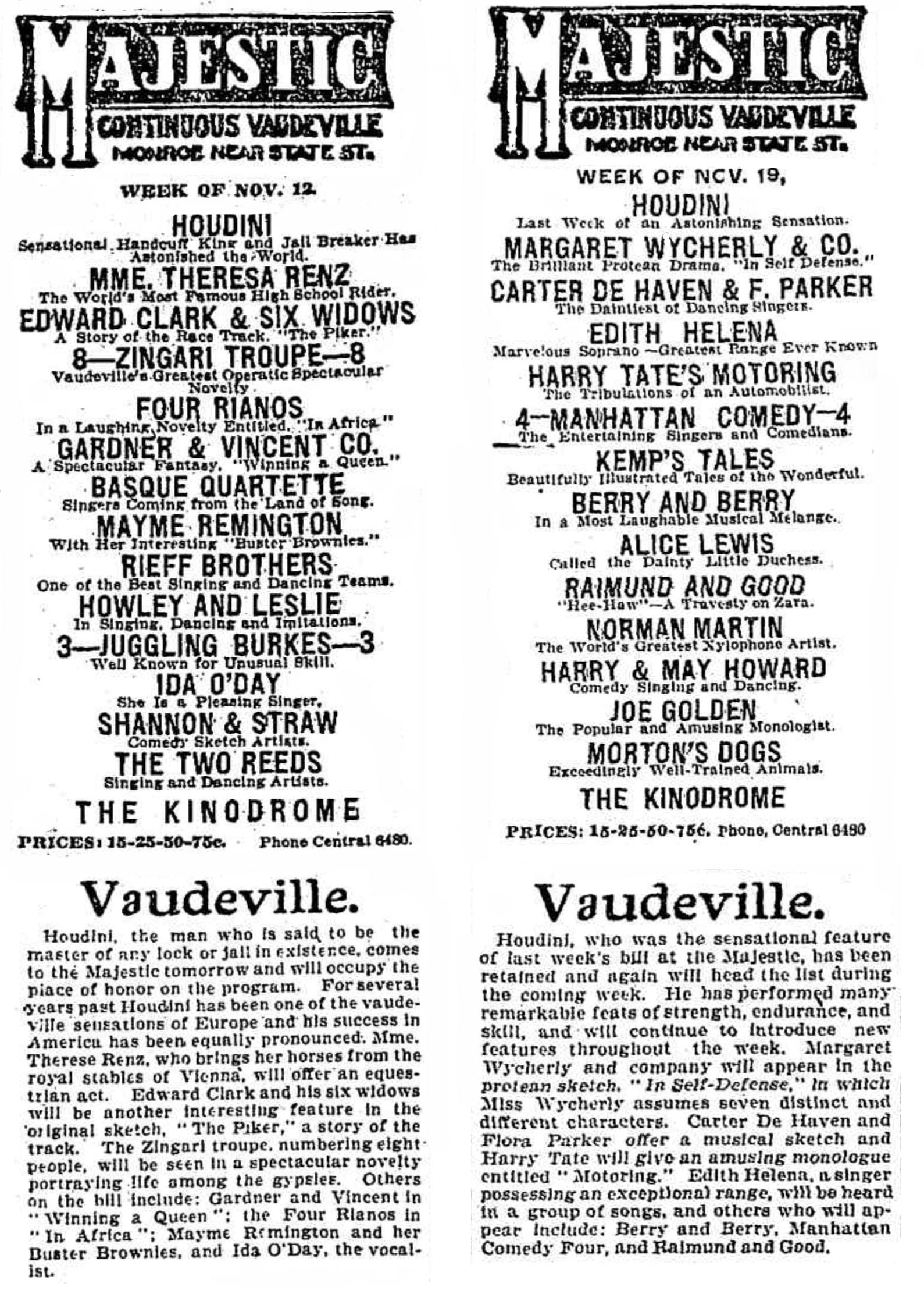 Chicago Sunday Tribune, November 11, 1906