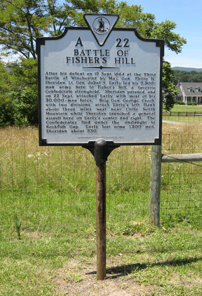 Battle of Fisher's Hill Virginia historical marker