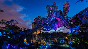 Pandora's Floating Mountains at Night