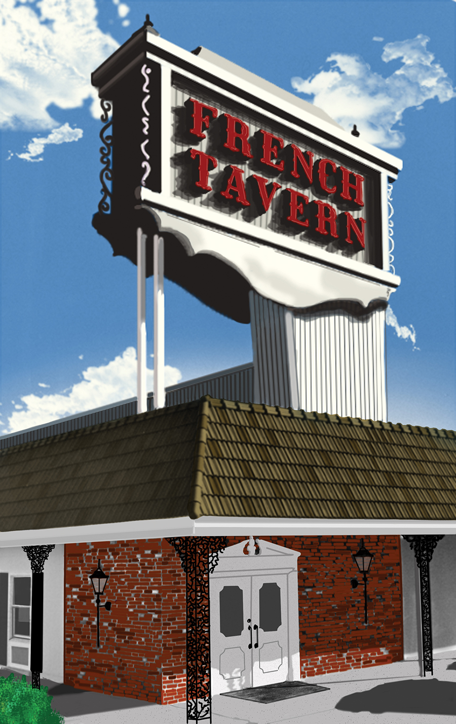 Illustration of the restaurant's final location